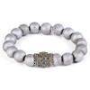 Silver Matte Crystal/Antique Rhodium