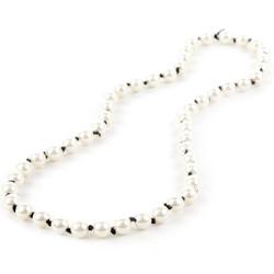 White Pearl/Black Ribbon