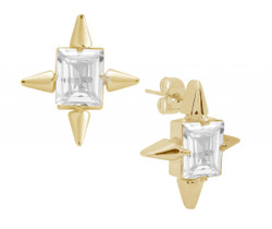STARBURST ASSCHER CUT EARRINGS