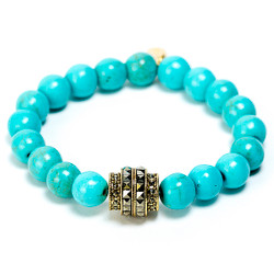 Turquoise/Antique Yellow Gold