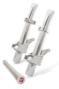 Chrome on Chrome Leading Axle Fork legs