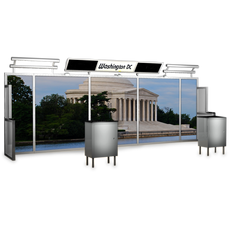 20 foot alumalite lineare modular display with image of the Jefferson Memorial in Washington D.C.