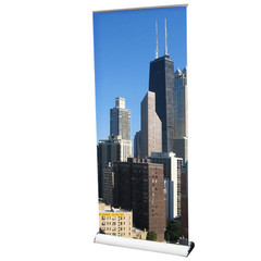 Axis 850 Banner Stand with custom Chicago City graphic