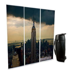 Lite Banner Stand 3 Pack with custom City graphic