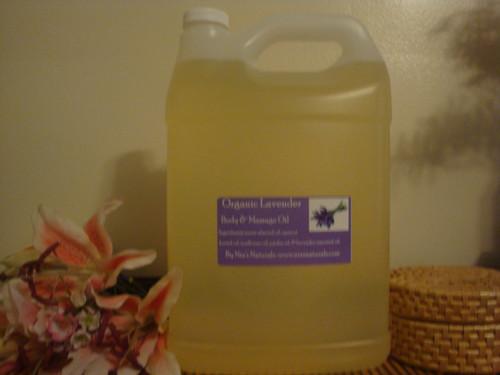 Organic Lavender Body & Massage Oil 128oz/1 Gallon Jug