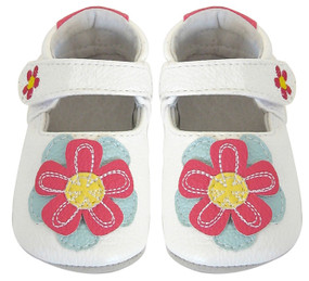 Jack and Lily My Mocs Isla White Leather Shoes
