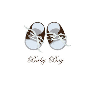 Baby Boy Card Shoes