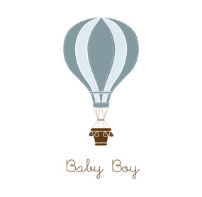 Baby Boy Card Balloon