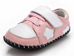"YXY ""Star Shot"" Pink Leather Soft Sole Shoes"