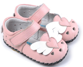 "Caroch ""Angel"" Pink Leather Soft Sole Shoes"