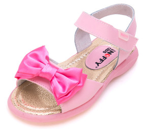 "Snoffy ""Mariah"" Pink Leather Sandals"