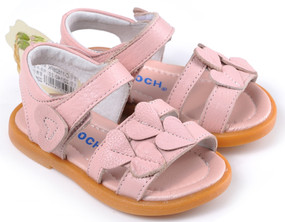"Caroch ""Lotta Love"" Pink Leather Sandals"