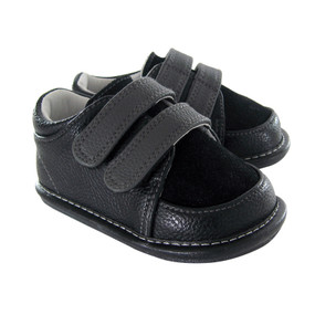 Jack and Lily My Shoes Arlo Black Leather Shoes