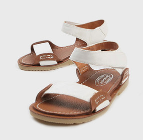 Buddy Hermes White Sandals