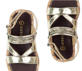 Buddy  Klimt Gold Sandals