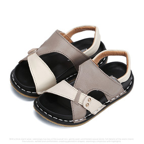 "Snoffy ""Monty"" Grey Leather Sandals"