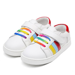 "Snoffy ""Pride"" White Leather Shoes"