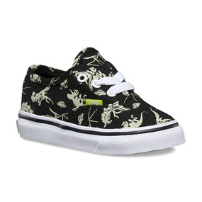 Vans Authenic Glow in the Dark Dinosaur Toddler Shoes US4 only