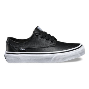 Vans Brigata Leather Black Kids Shoes US4 only