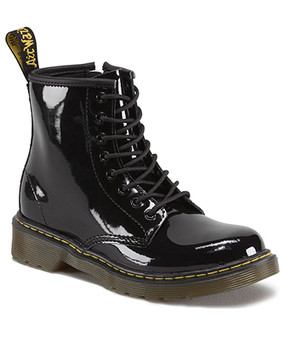 Dr Martens Brooklee Black Patent Leather Boots