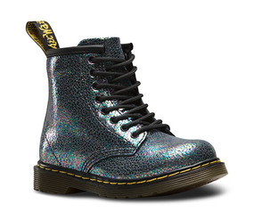 Dr Martens Brooklee Sparkle Grey Leather Boots