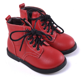 "Caroch ""Romper"" Red Leather Boots"