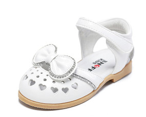 "Snoffy ""Erica"" White Leather Sandals"