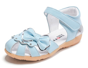 "Snoffy ""Kiara"" Blue Leather Sandals"