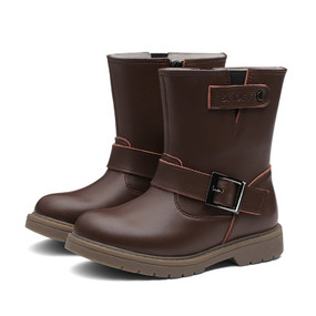 """Snoffy """"Wynter"""" Brown Leather Boots"""