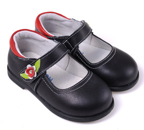 "Caroch ""Zeta"" Black Leather Shoe"