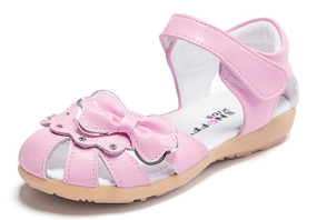 "Snoffy ""Kiara"" Pink Leather Girls Sandals"