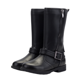 "TS ""Lacie"" Black Leather Boots"