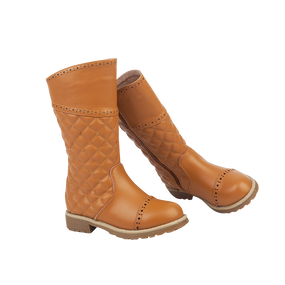 "TS ""Believe"" Caramel Leather Boots"