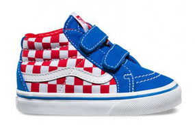 Vans SK8 Mid Reissue V Checkerboard Toddler Shoes US4 Only