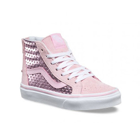 Vans Girls SK-8 Metallic Heart Pink  Kids Shoes