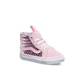 Vans Girls SK-8 Metallic Heart Pink  Toddler High Tops
