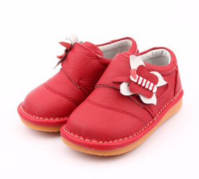 "Freycoo ""Molly"" Red Leather Shoes"
