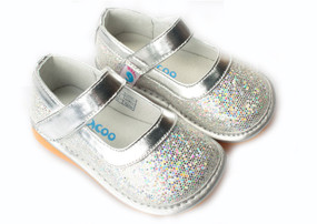 "Freycoo ""Cinderella"" Sparkly Glitter Silver Shoes"