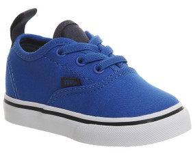 Vans Authentic Elastic Lace Imperial Blue Toddler Shoes