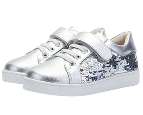 "TS ""Sequin"" Silver Leather Shoes"