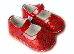 "Freycoo ""Dorothy'' Sparkly Glitter Red Shoes"