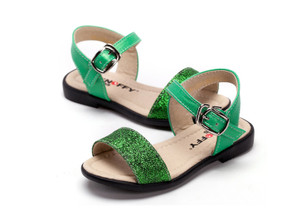 "Snoffy ""Laney"" Green Sandals Aus Size 9 Only"