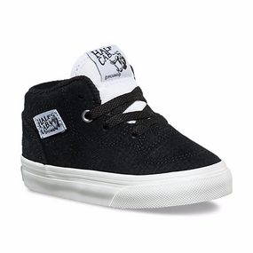 Vans Half Cab Snake Skin Black/Blanc Suede Toddler Shoes