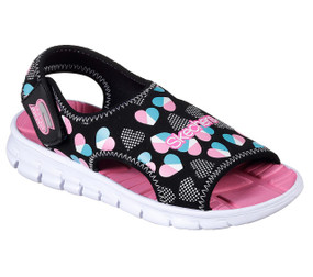 Skechers Synergize Splash-n-dash black girls sandals