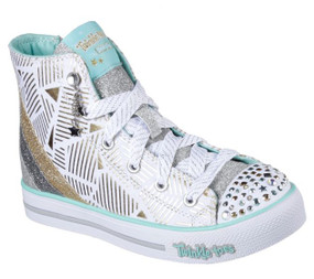 Skechers Twinkle Toes Step Up Glitzy Kicks Girls High Tops