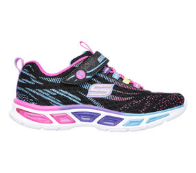 Skechers S Lights Litebeams Black Multi Girls Sneaker