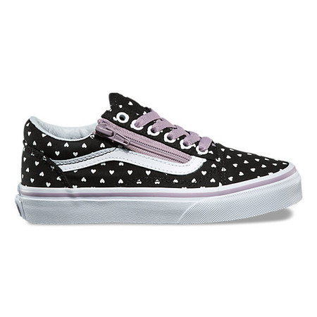 ... Vans Old Skool Zip Micro Heart Black Girls Shoes. Image 1. Image 2.  Image 3. Image 4. Image 5. See 4 more pictures