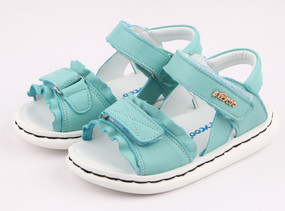 "Freycoo ""Deccy"" Minty Blue leather girls sandals"