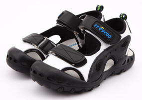 "Pre Order Freycoo ""Active"" black leather sandals"