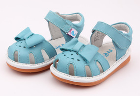 "Pre Order Freycoo ""Sally"" Blue Leather Sandals"